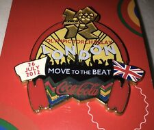 London 2012 Olympics Coca Cola Collectors Pin Badge Move to the Beat NEW