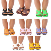 1 Pair doll shoes doll sandals for 18 inch 43cm dolls acces Christmas gift XD