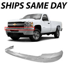 New Chrome Plastic Front Upper Bumper For 2011 2014 Chevy Silverado 2500 3500 Hd Fits More Than One Vehicle