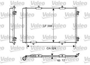 1 Kondensator, Klimaanlage VALEO 818015 passend für CITROËN OPEL PEUGEOT DS