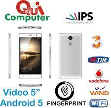 SMARTPHONE ANDROID P8 QUAD CORE VIDEO 5 POLLICI  RAM 1 GB ROM 8 GB FINGERPRINT