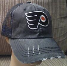 Philadelphia Flyers Cotton Mesh Distressed Trucker Hat Flyers Hockey Cap