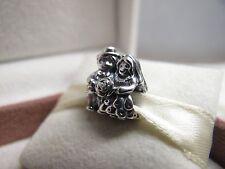 New w/Pandora Hinged Box Pandora Sterling Silver Mr & Mrs. Wedding Charm #791116