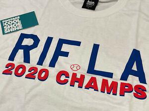 RIF LA 2020 WORLD SERIES CHAMPIONS LOS ANGELES TEE-SHIRT WHITE BLUE L