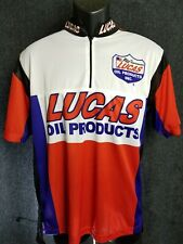 Lucas Oil Products Cycling Style Jersey Shirt Apparel Sz Small 1/4 Zip