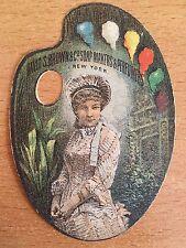 1880 DIE CUT CHROMOLITHOGRAPH TRADE CARD NYC NY David Brown SOAP MAKERS PERFUMER