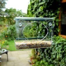 Spear & Jackson Window Feeder Feed & Water Garden Bird Viewing Table Perch