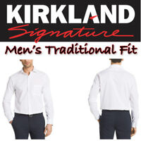 NEW Kirkland Signature Men's Traditional Fit Dress Shirt, White VARIETY M, L, XL