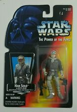 STAR WARS 1995 HAN SOLO IN HOTH GEAR W BLASTER PISTOL AND ASSAULT RIFLE POTF