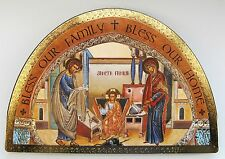 Plaque Holy Family / House Blessing Standing/wall hanging Icon