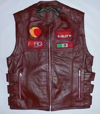 Fig Festival Internacional De Globo Leather Pilot Vest 2013 Leon Mex Mens Large