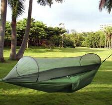 High Strength Hammock Portable Jungle Camping Hammock Mosquito Net Military AU