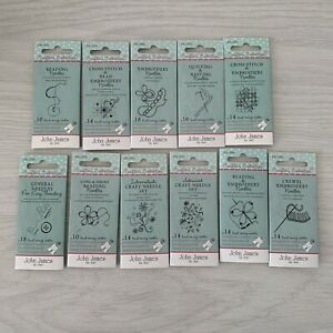 Job Lot (12 packs) Of John James Crafters Collection Sewing & Embroidery Needles