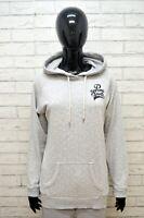 Maglione ADIDAS Felpa Donna L Pullover Sweater Cardigan Cotone Grigio Woman