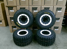 Hiper CF1 Beadlock Rims Maxxis Razr MX Tires Front/Rear Kit Yamaha Raptor 700