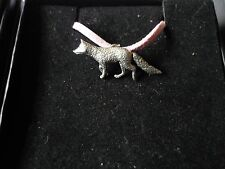 """Fox codea23 Made From Fine English Pewter On a 18"""" Pink Cord Necklace"""