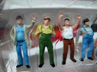 6pcs Construction Workers Model 1/50 scale Colorful Action Figure Doll Toy
