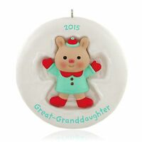 Hallmark 2015 Great Granddaughter Cute Little Bear Ornament