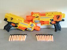 Lot de 2 Pistolets Automatique NERF N-STRIKE BARRICADE RV-10 + 20 Flechettes