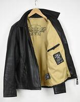 CHEVIGNON BUFFALO MARBLE Men ~XL* Simple Buffalo Leather Biker Jacket 33299-GS