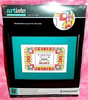 New Artiste Follow Your Heart Cross Stitch Kit Kooler Designs Arrows Chevron