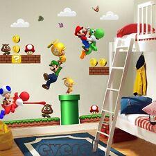 Super Mario Bro Mural Vinyl Wall Decals Sticker Decor for Kids Nursery Room SU