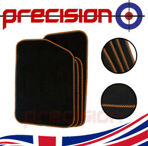 Black Business Class Car Mats with Orange Check for NISSAN 350Z 2003-2009