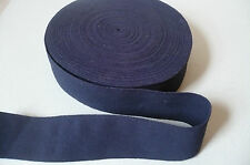 Vintage Navy Blue Sewing Elastic. Very Strong Band. 50mms.  x 1 Metre.