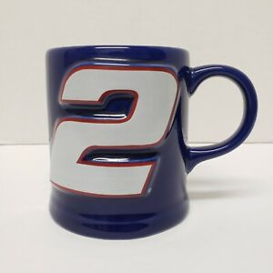 "Rusty Wallace #2 Coffee Mug Official Nascar ""Autographed"" Gold Signature"