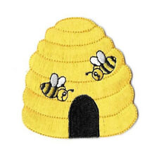 Beehive - Bumblebee - Bumble Bee - Honey - Embroidered Iron On Applique Patch