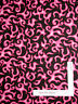 "Fire Flame Pink and Black Cotton Fabric General Craft Sew Novelty 14"" length"