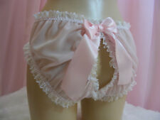 sissy sheer chiffon  open butt  panties mens lingerie knickers all sizes colours