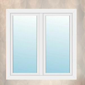 Fenster 2-flügliges Kunststofffenster Stulpfenster Weiß Dreh Dreh-Kipp mit Stulp