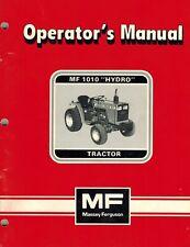 Massey Ferguson Mf 1010 Hydro Compact Tractors Operators Manual New
