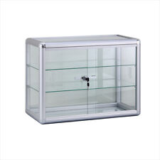 24 Counter Top Glass Showcase With Glass Shelves F 1301