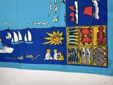 FDM Gamblestadens Of Sweeden Hand Printed Colorful Table Cloth nautical