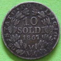 ITALIE VATICAN 10 SOLDI 1867 R