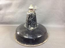 Ancienne suspension lampe en tole émaillé déco atelier usine REFLECTO-LUX