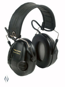 Peltor Sportac Black & Red Electronic Muffs