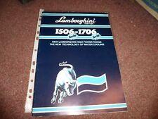 Lamborghini Trattori (Tractor) 1506 & 1706 Showroom Sales Brochure, Automobilia