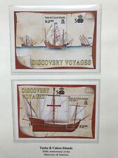 turks and caicos stamps 1992, Discovery Voyages X 2 Minisheets MNH