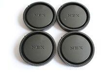 4 X  SONY  NEX  E MOUNT Objektiv Deckel Objektivdeckel Rückdeckel Rear Lens Cap
