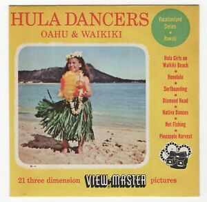 Hula Dancers Oahu and Waikiki 1951 View-Master Packet Reels 61 64 73 Near Mint