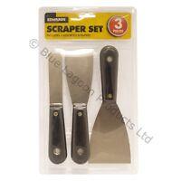 3 x Wallpaper Scraper Set Kit Scrapers Paint Removal Decorating Tool Remover