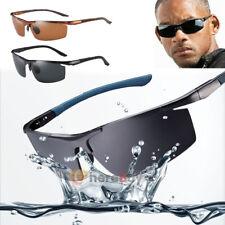 Mens HD Polarized Sunglasses Outdoor Sports Aviator Eyewear Driving Sun Glasses