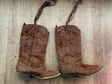 "Big Buddha ""Mint"" Brown Studded Faux Suede Boots Size 8M Womens"