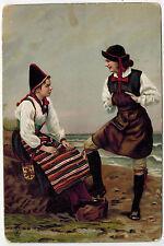 Large Card, Women in National Wear, Sweden, 1900/10s