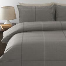 On Sale Bentley Grey Queen Size Quilt / Doona Cover Set In 2 Linen Covers New