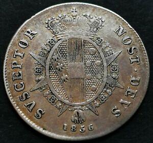 MEZZO PAOLO 1856 RARA ARGENTO LEOPOLDO II D'ASBURGO