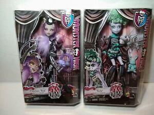 Monster High Freak du Chic Twyla Clawdeen Wolf Circus Ghouls Lot purple hair dog